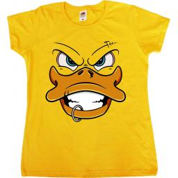 Punk Rubber Duck Female T-Shirt