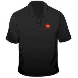 Russian Hammer And Sickle CCCP Soviet Polo
