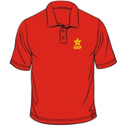 Russian Hammer & Sickle CCCP Badge Polo