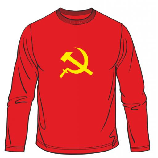 Hammer And Sickle CCCP Soviet USSR Long Sleeved