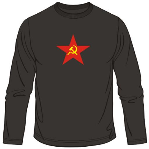 Hammer And Sickle Star CCCP Long Sleeved